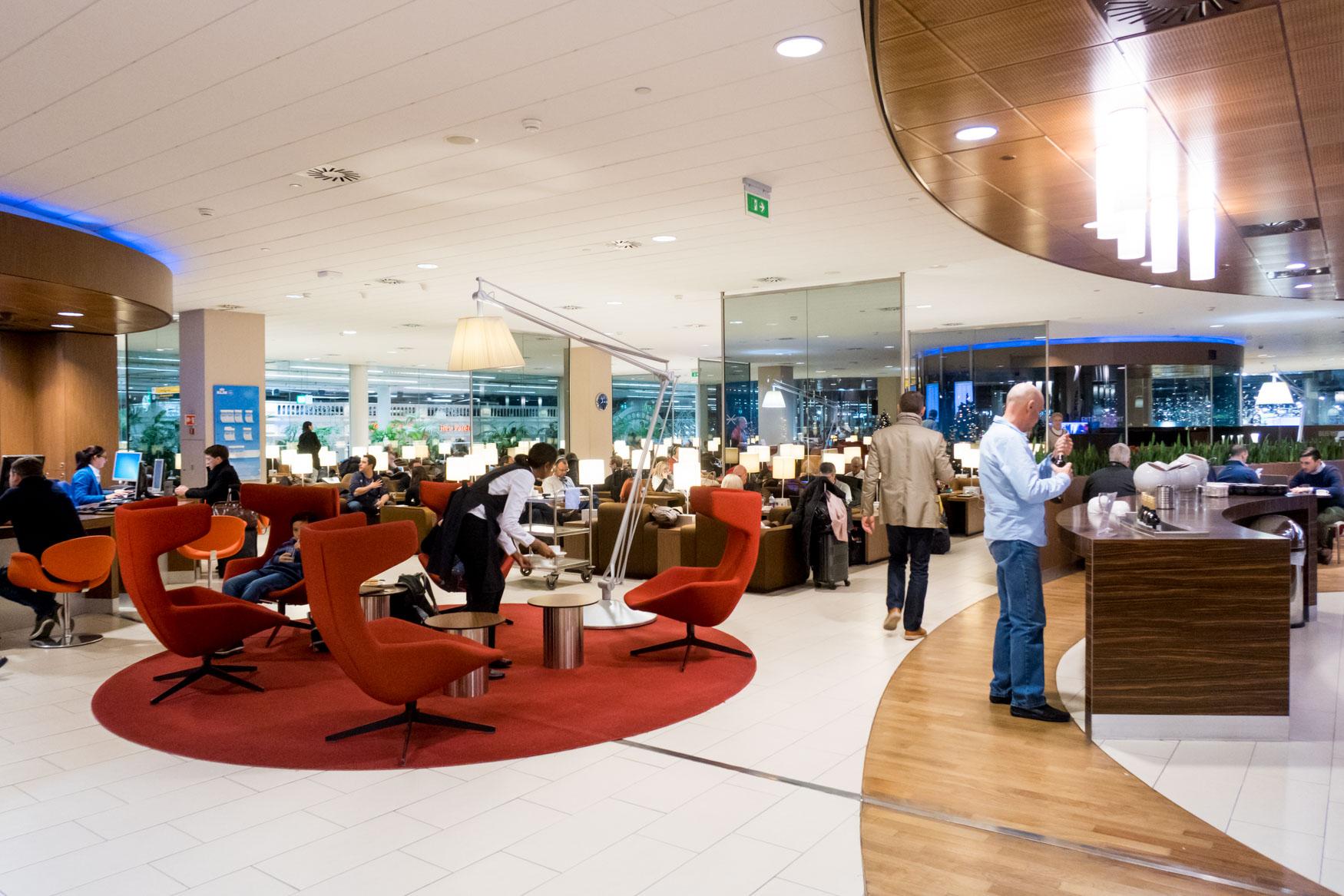 KLM Crown Lounge Seating