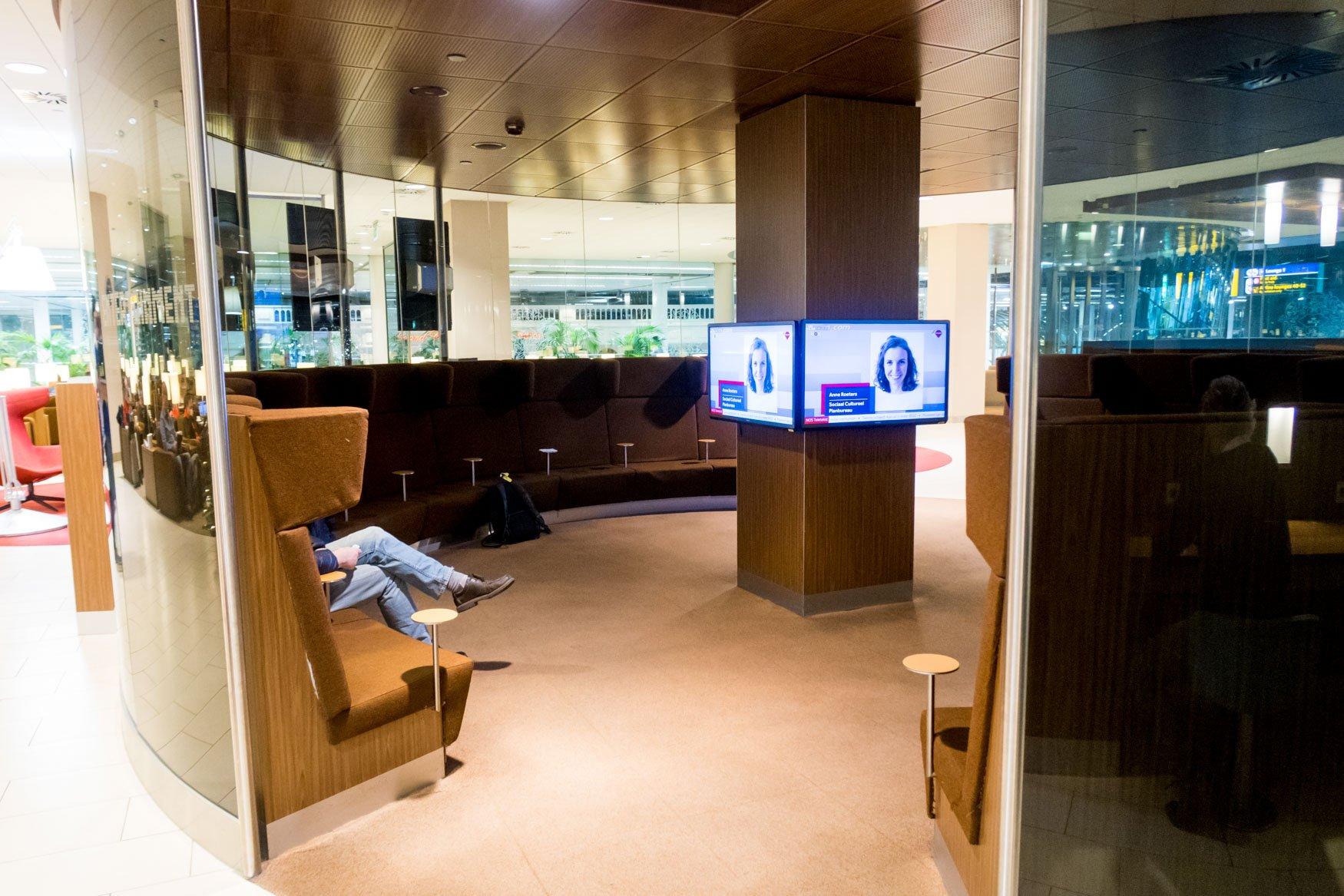KLM Crown Lounge Amsterdam Entertainment Room