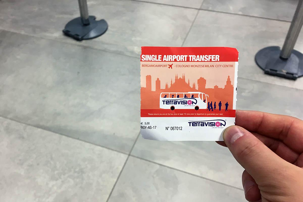 Terravision Bus Ticket