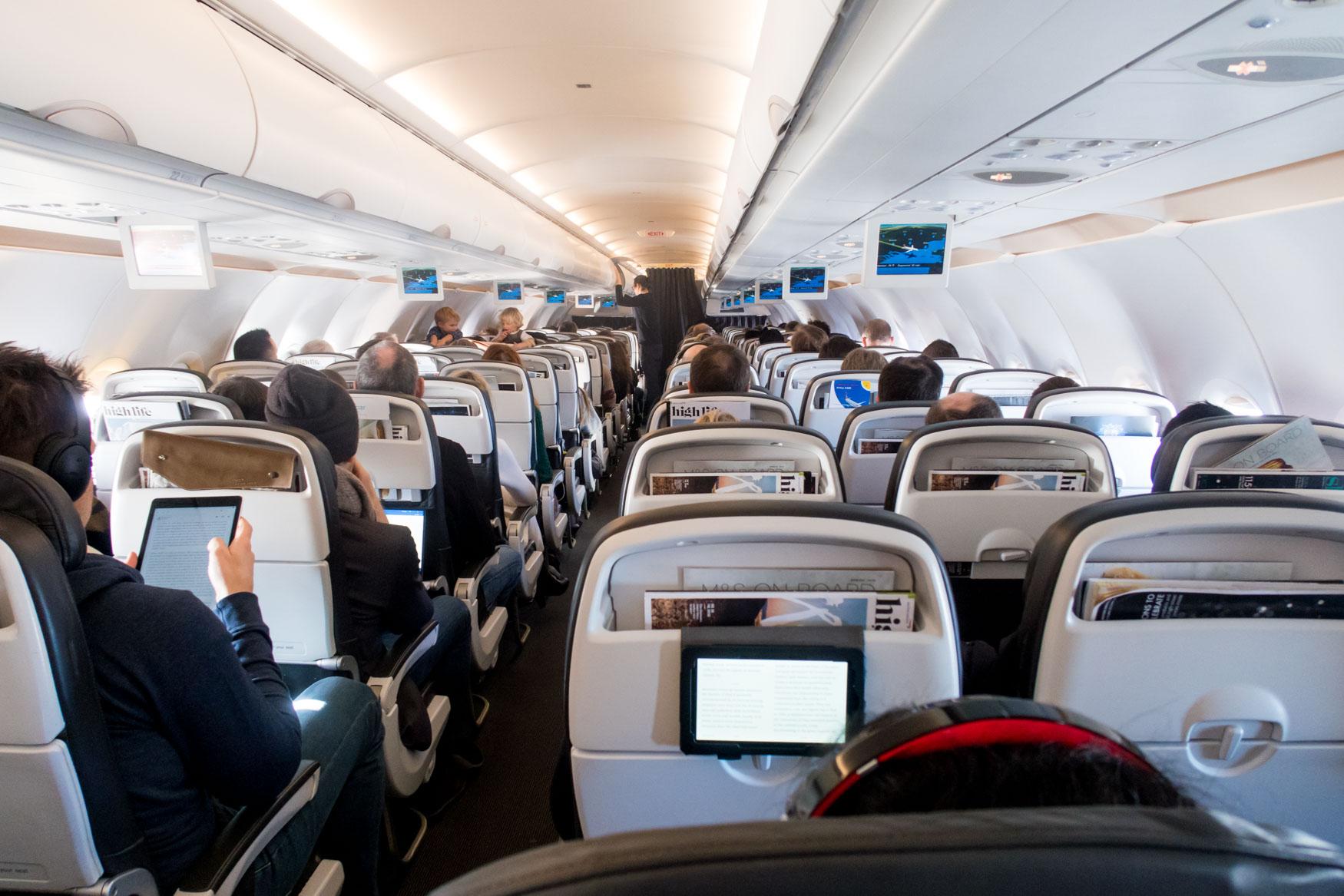 British Airways Airbus A320 Cabin