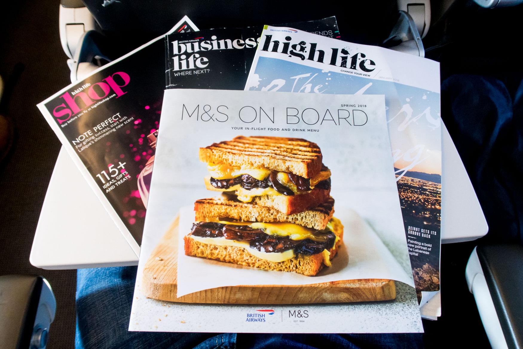 British Airways In-Flight Magazines and Shopping