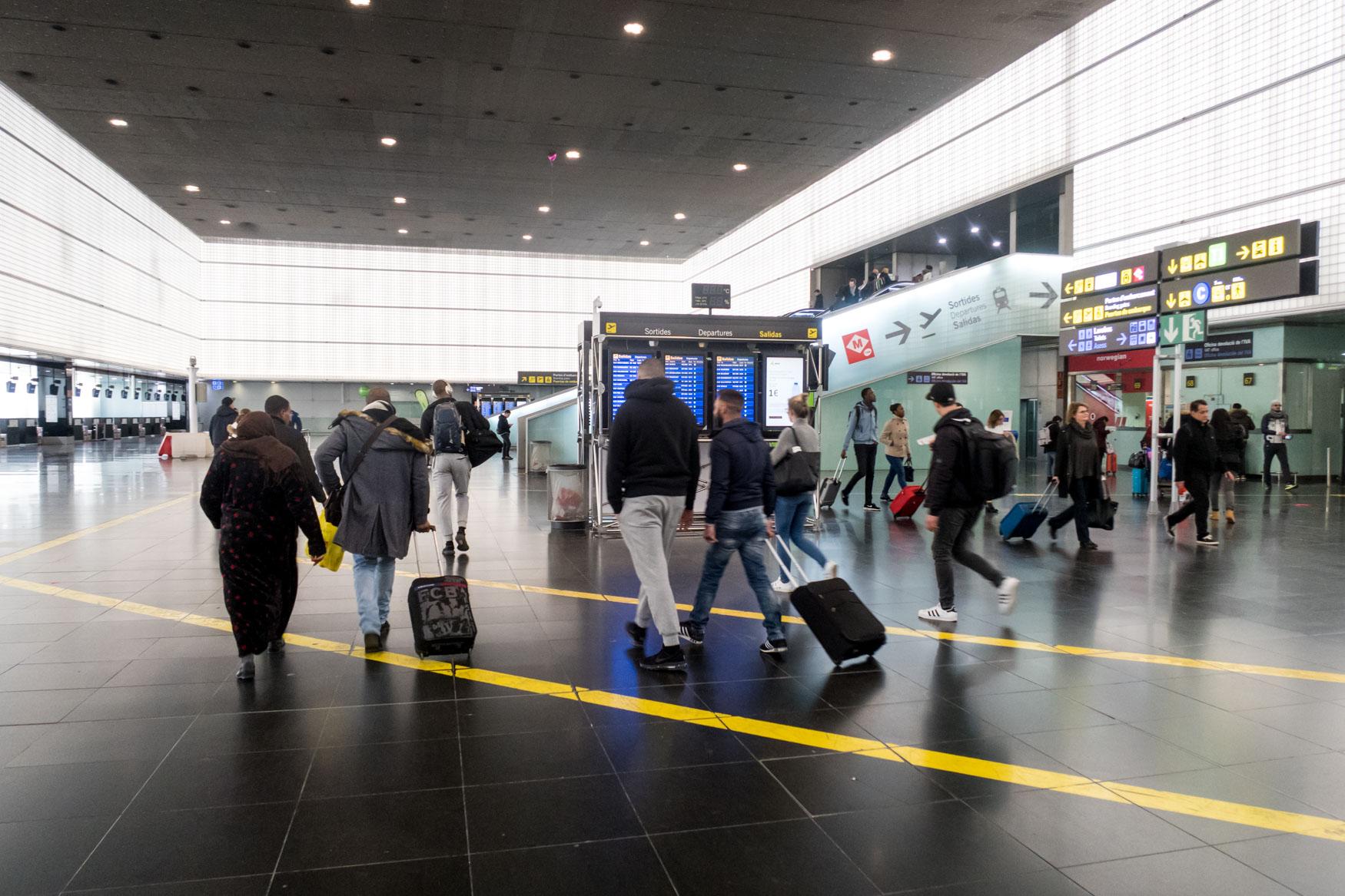 Heading Airside at Barcelona