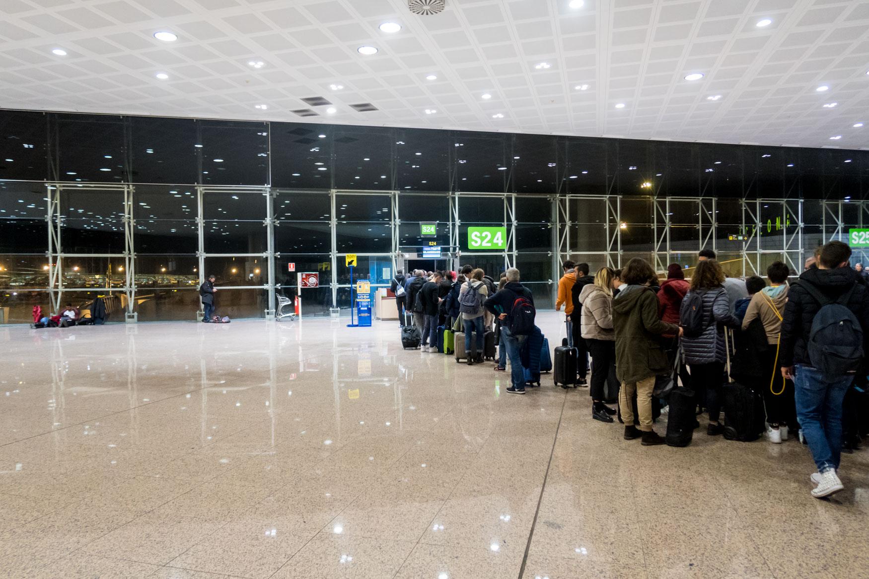 Gate S24 at El Prat Airport