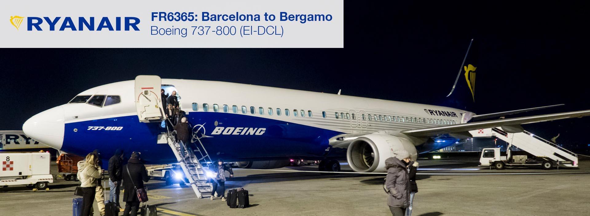 Flight Review: Ryanair 737-800 Economy Class from Barcelona El Prat to Milan Bergamo