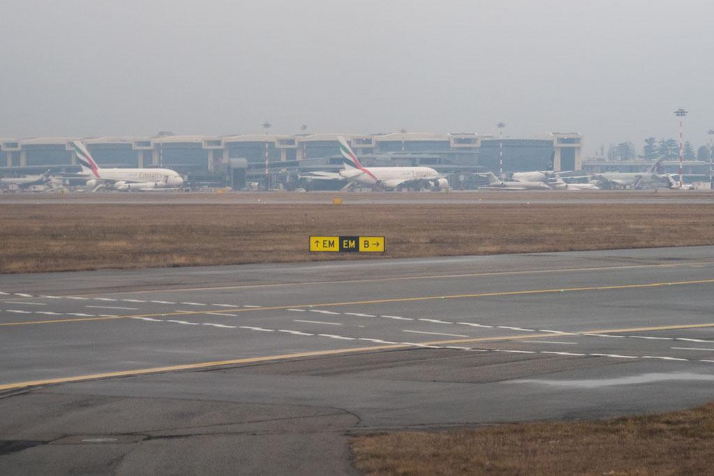 Emirates A380s at Milan
