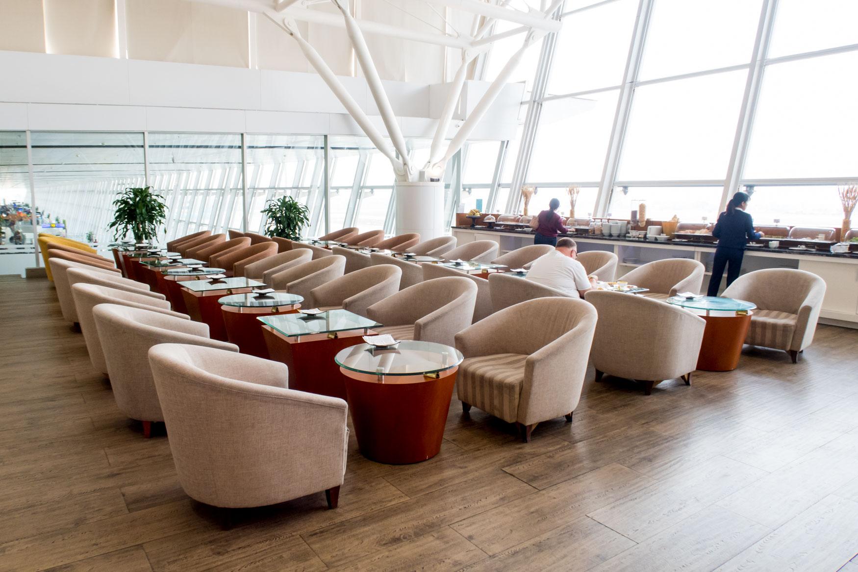 Seating Area and Buffet NIA Lounge Hanoi