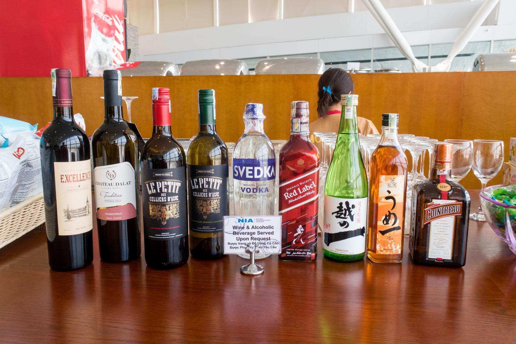 Alcoholic Drinks in ACV Lounge Hanoi