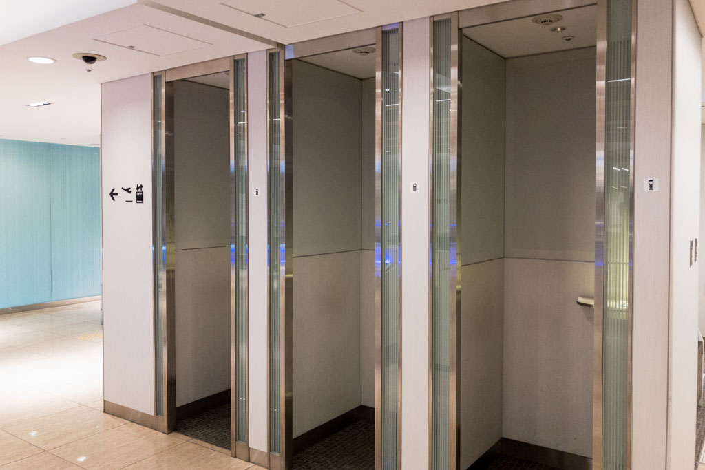 ANA Domestic lounge phone booths