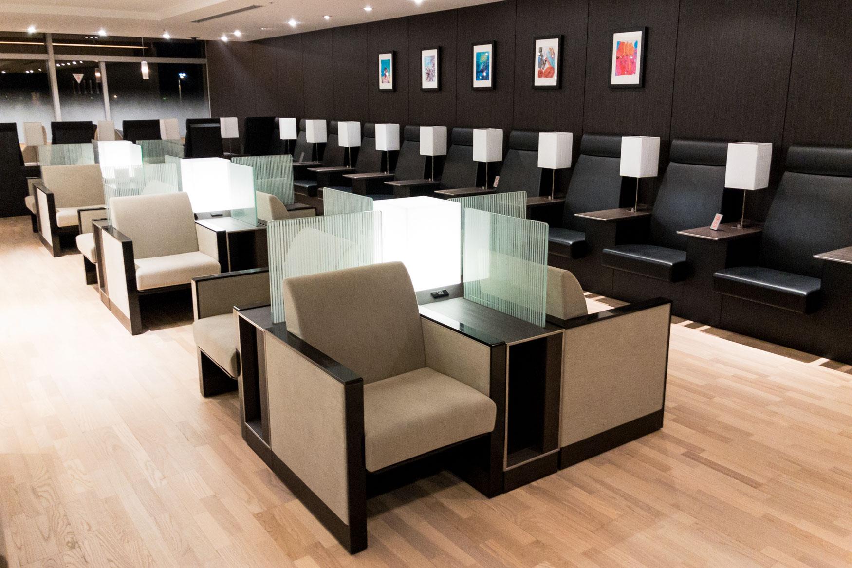 Seating inside domestic ANA Lounge