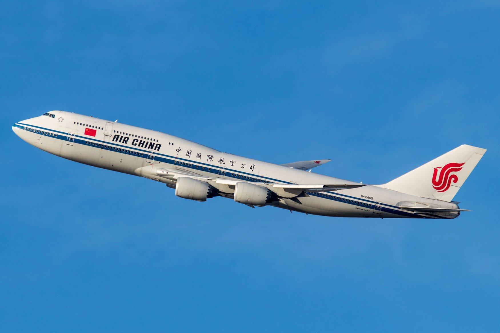 Air China 747-8i Departing JFK