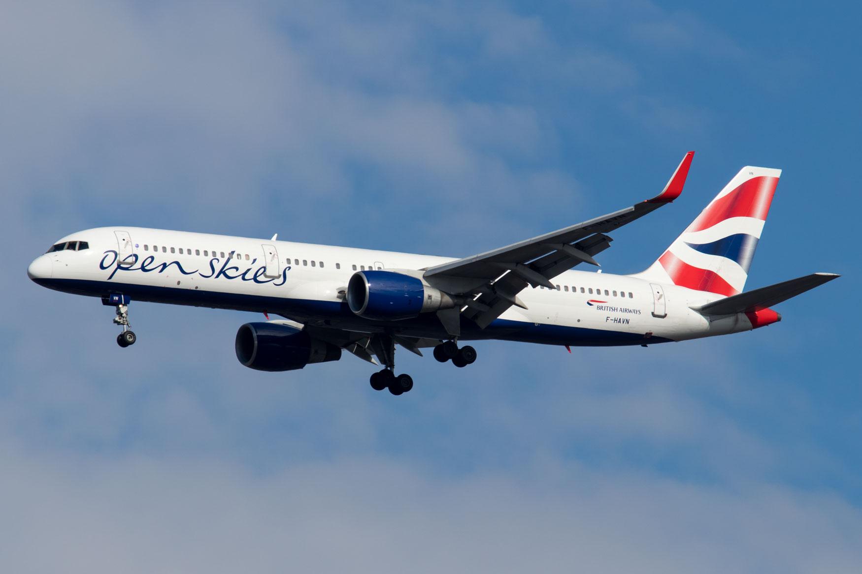 OpenSkies 757 Landing at JFK