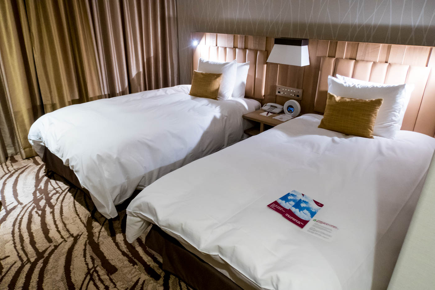 Beds in the Crowne Plaza Near Sapporo New Chitose Airport