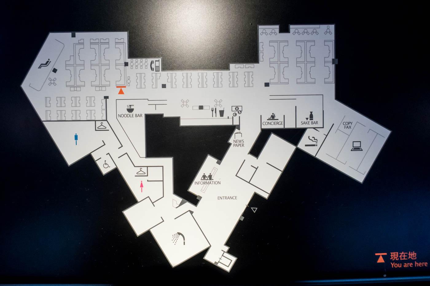 ANA Lounge Tokyo Narita Map