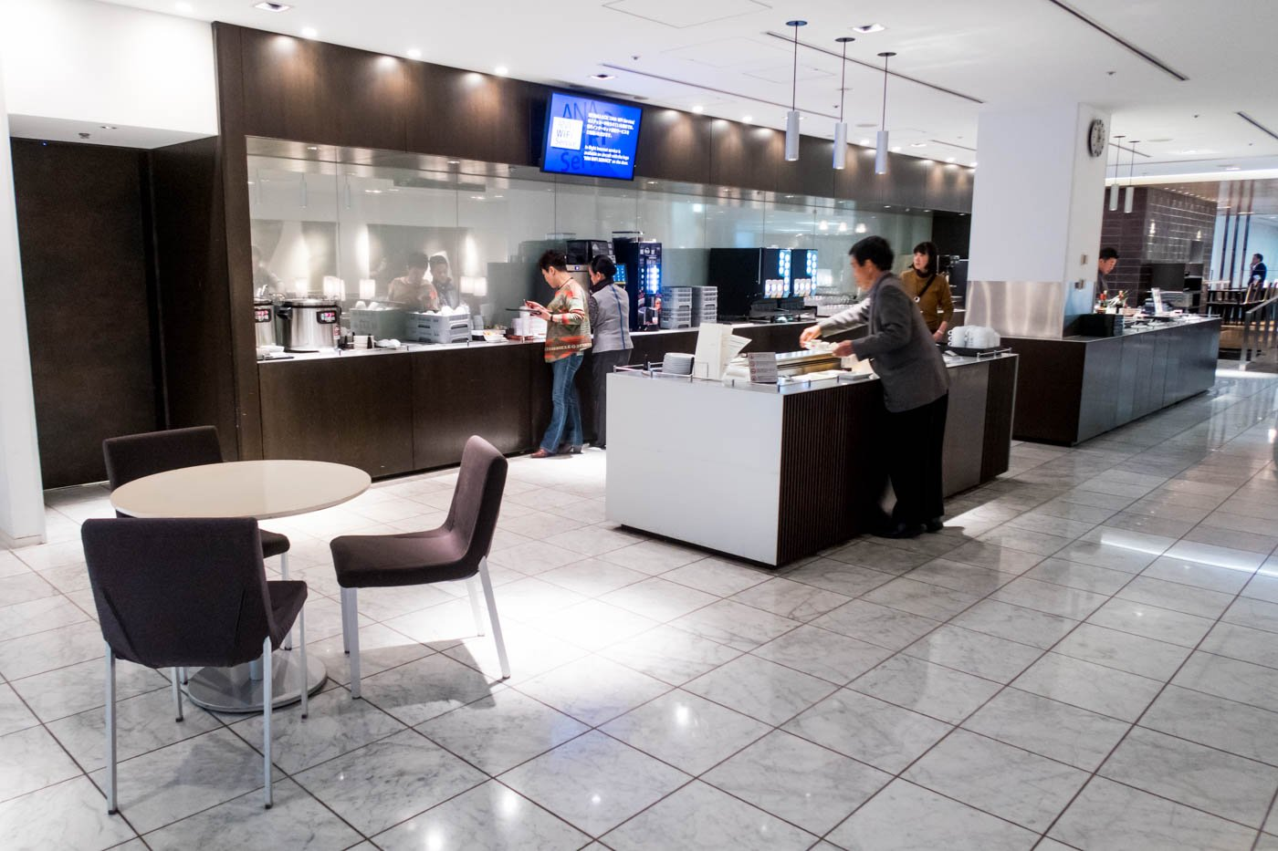Buffet Area in the ANA Lounge