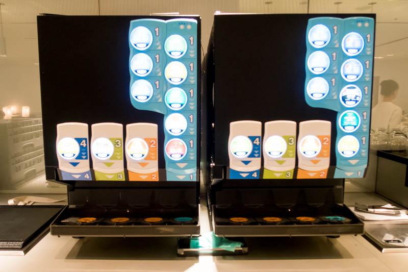 Soft Drinks in ANA Lounge Narita