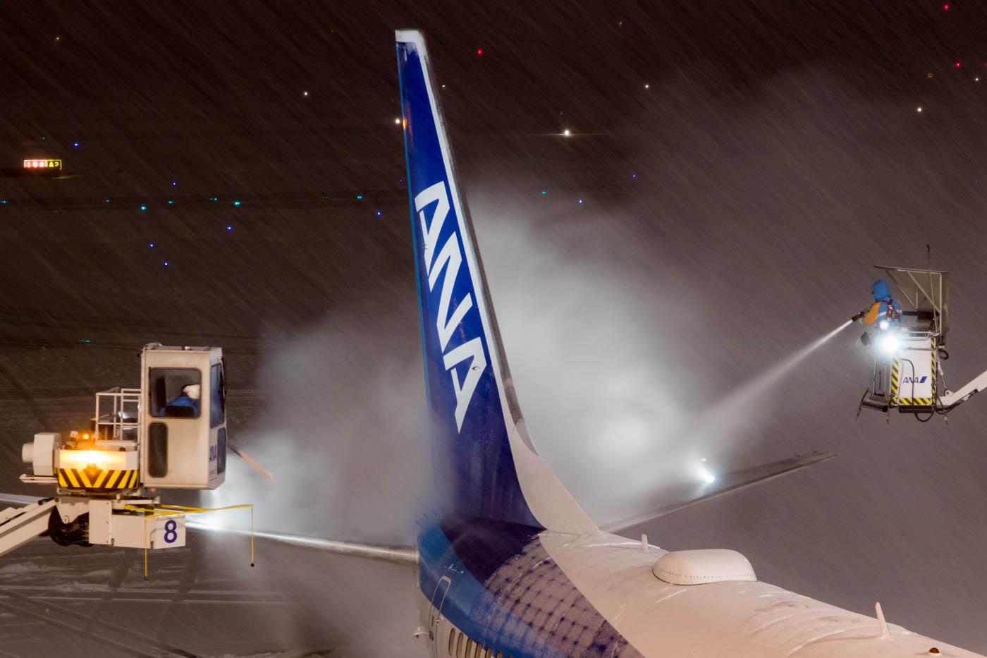 ANA 737 De-Icing