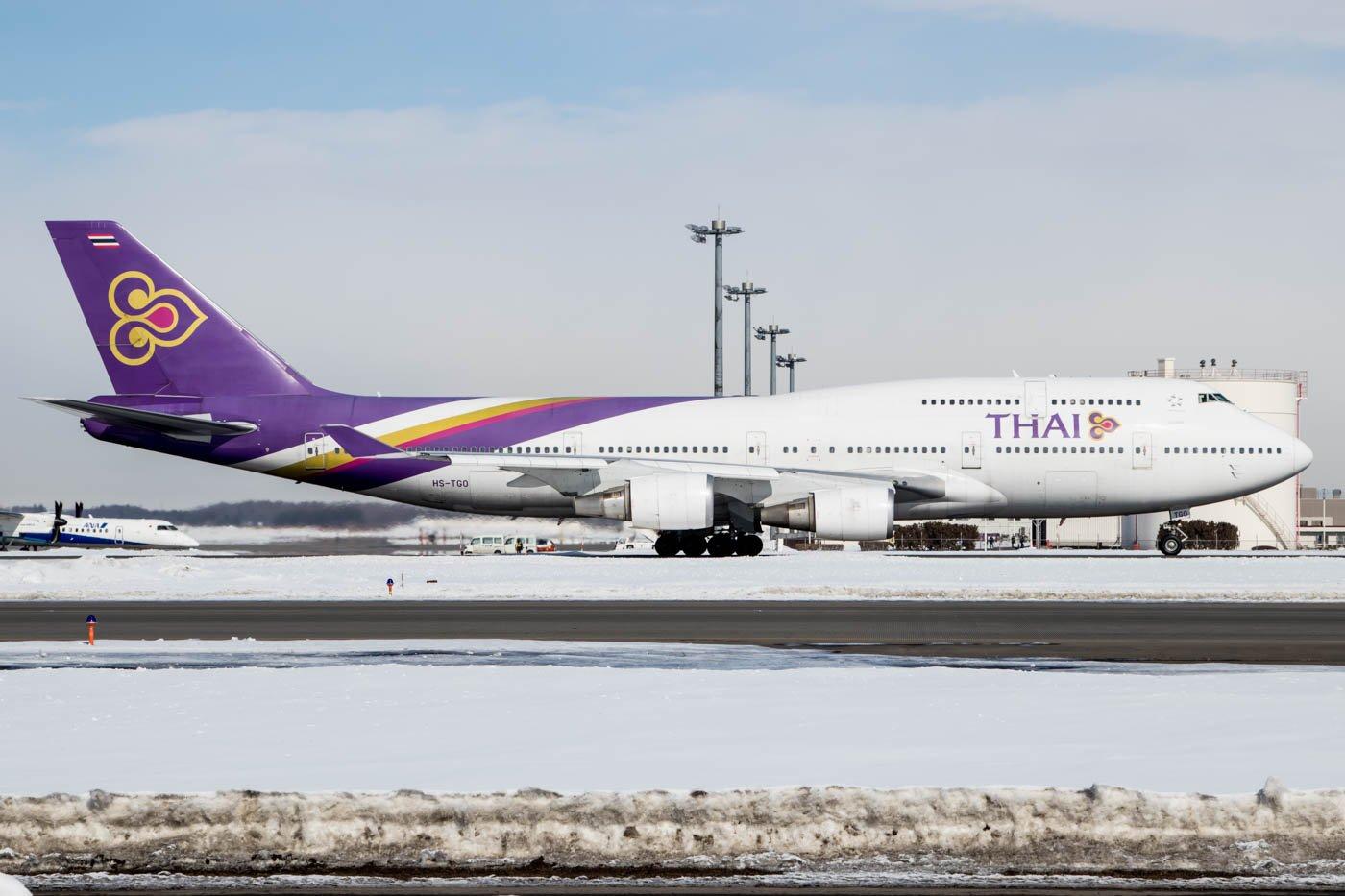 Thai Airways 747 at Sapporo New Chitose