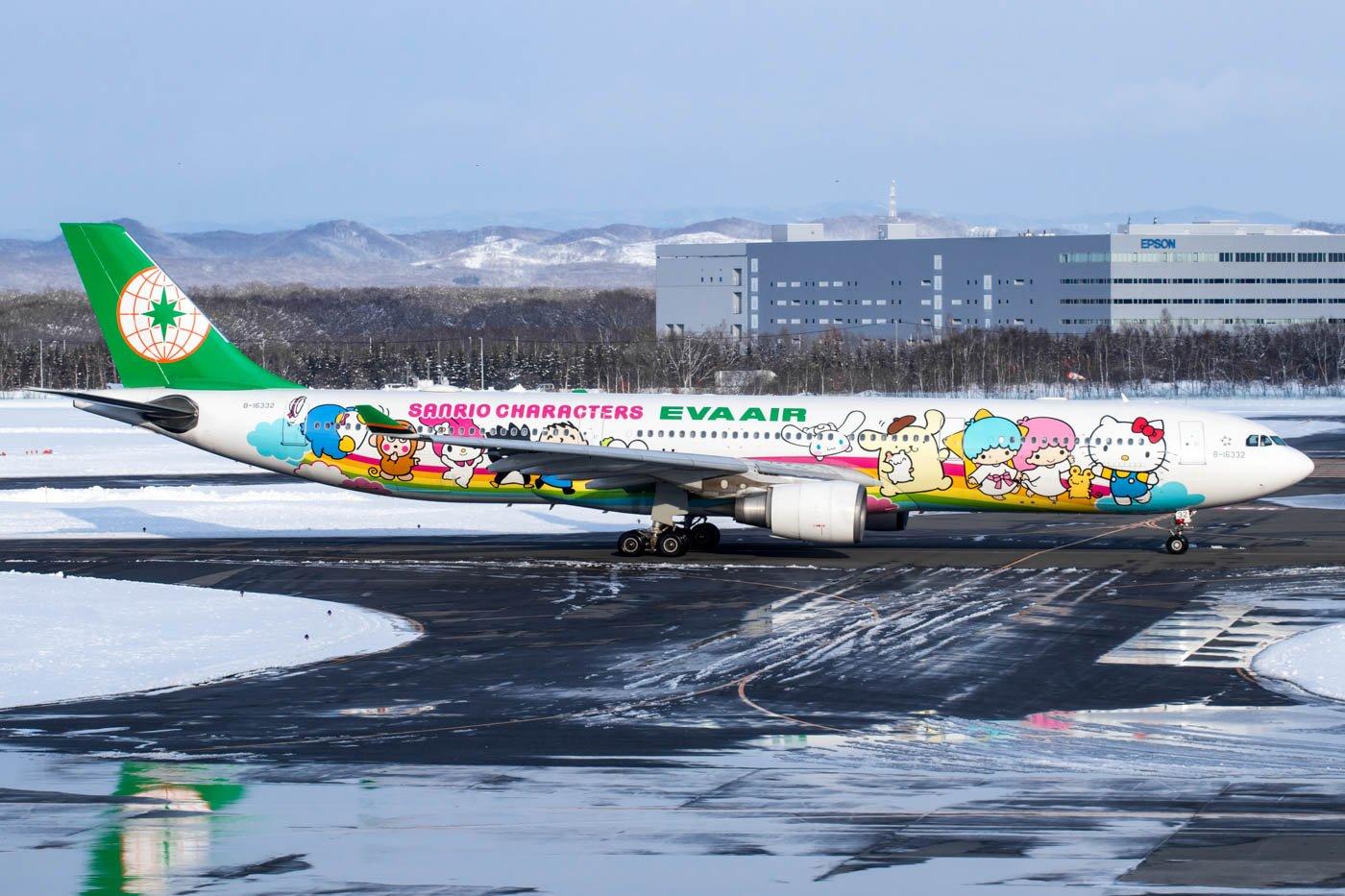 Eva Air Sanrio Taxiing for Departure