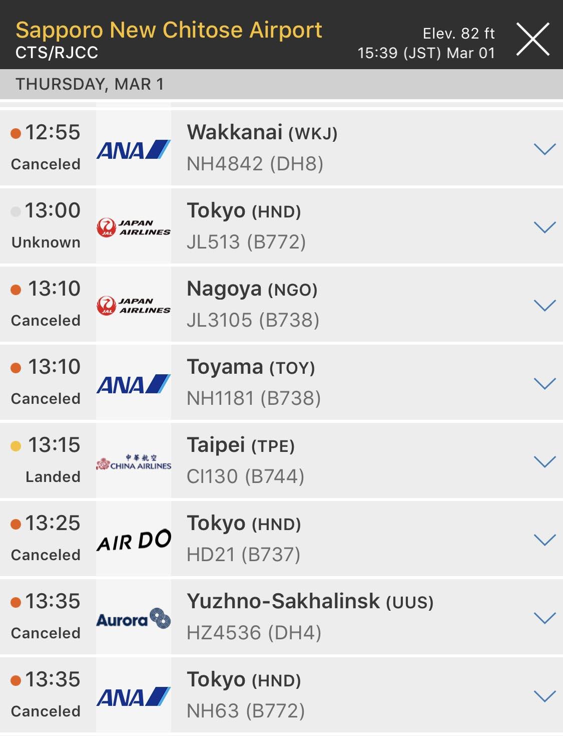FlightRadar24 All Flights Cancelled