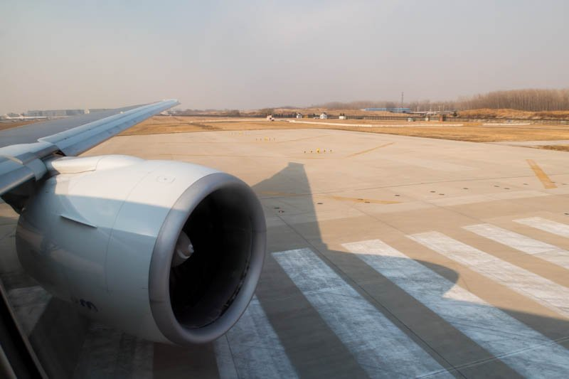 ANA 777 Lining Up for Departure from Beijing