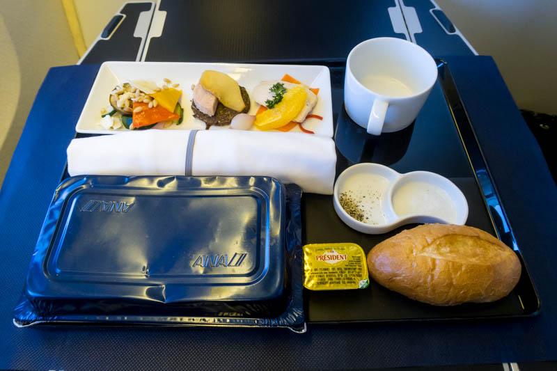 ANA Business Class Meal Presentation