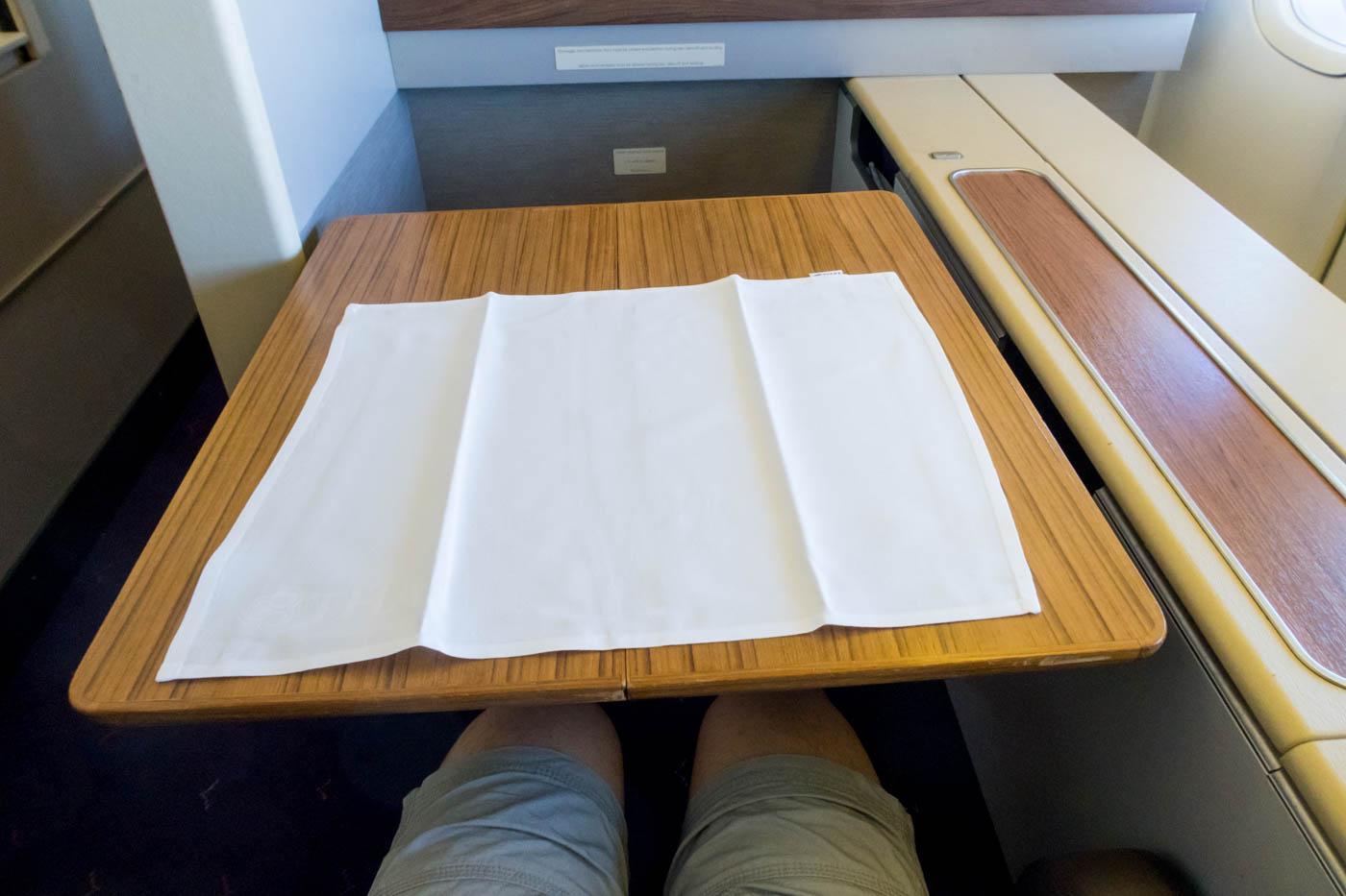 Thai Airways 747 Tray Table