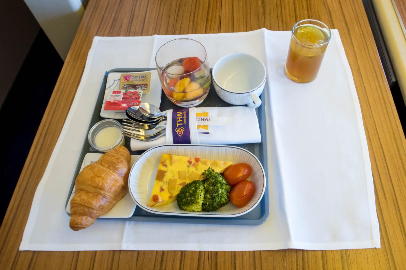 Thai Airways Domestic Business Class Breakfast