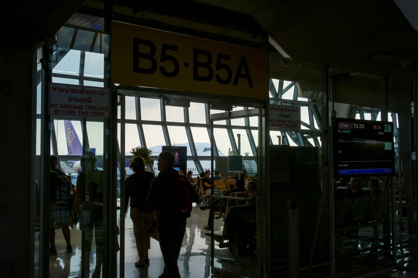 Walking to Departure Gate