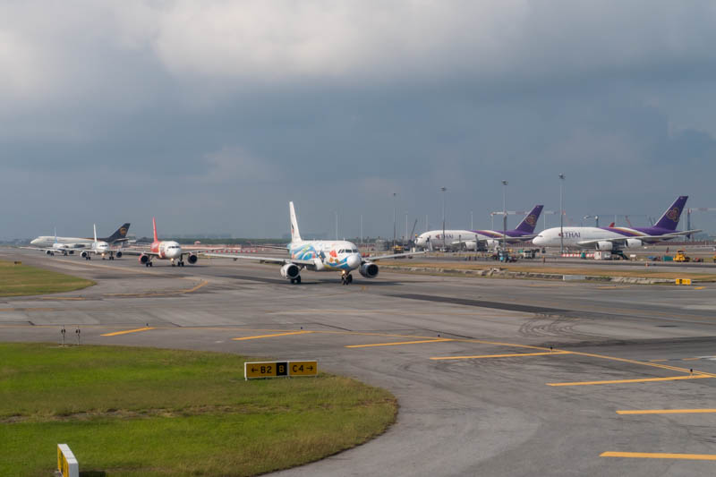 Bangkok Suvarnabhumi Airport Activity