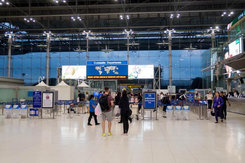 Security Check at Bangkok Suvarnabhumi Airport