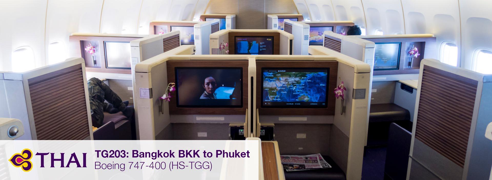Flight Review: Thai Airways 747-400 Business Class from Bangkok Suvarnabhumi to Phuket