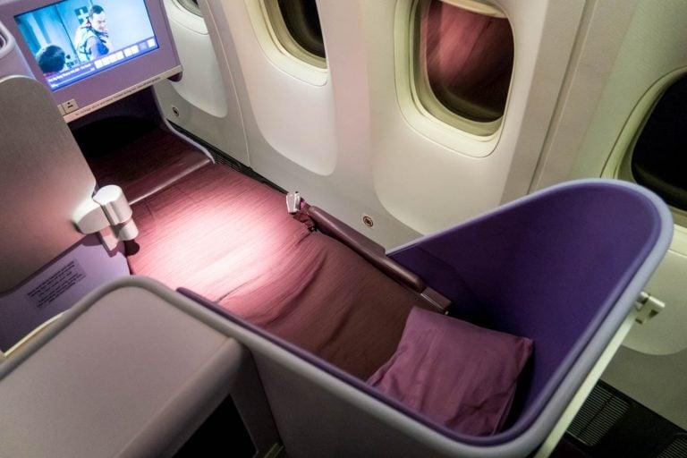 Thai Airways 777-300ER Seat in Bed Mode