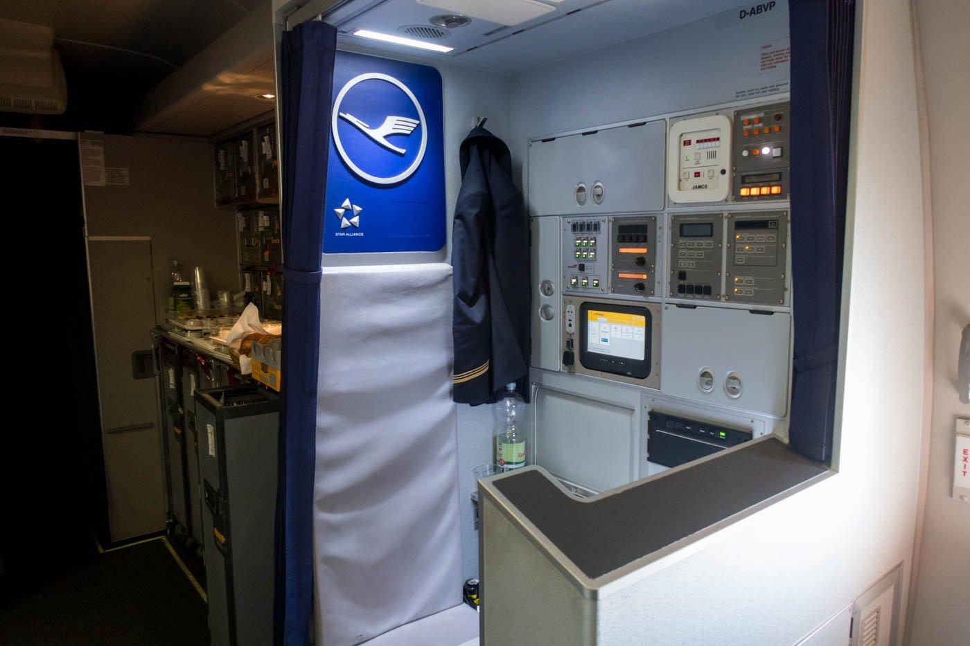 Lufthansa 747 Purser Station