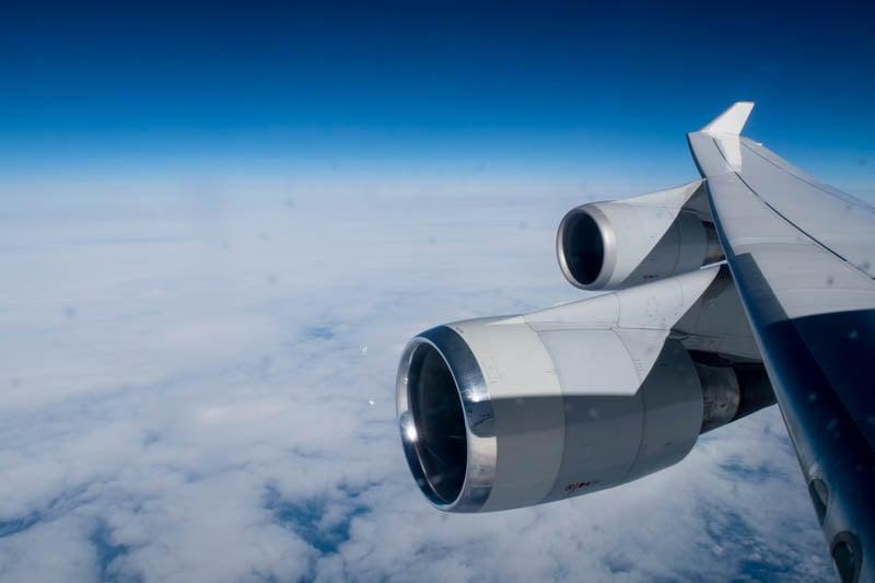 Lufthansa 747 Wing