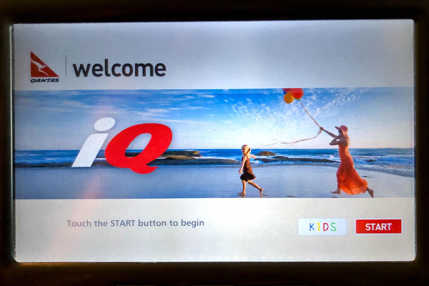 iQ Qantas In-Flight Entertainment System