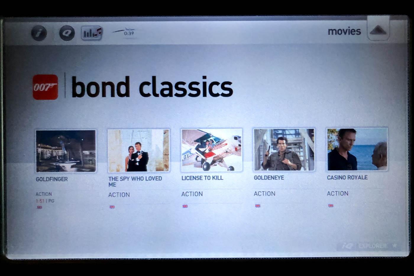 Bond Movies on Qantas