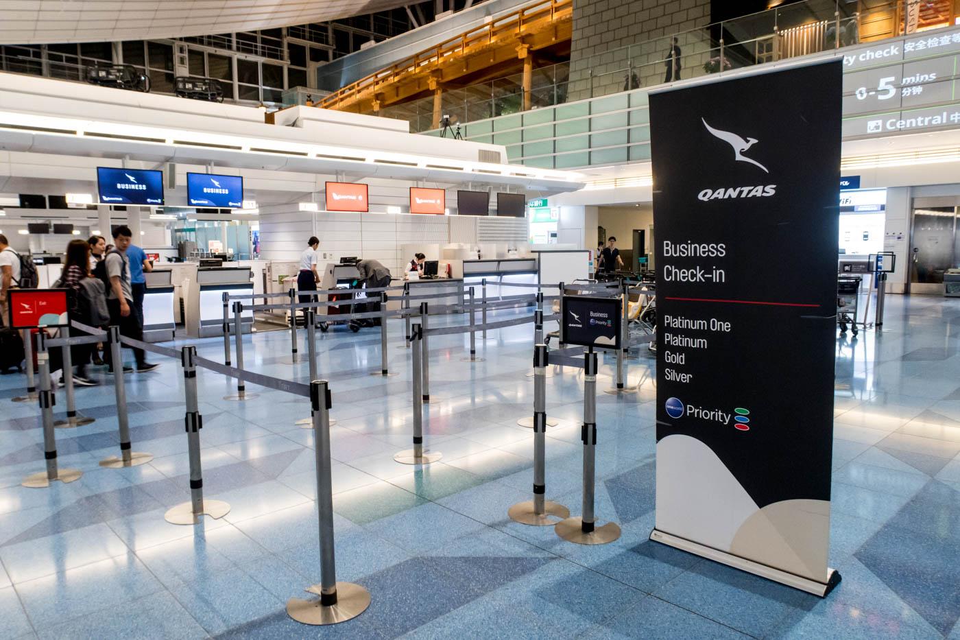 Qantas Check-in Area at Haneda