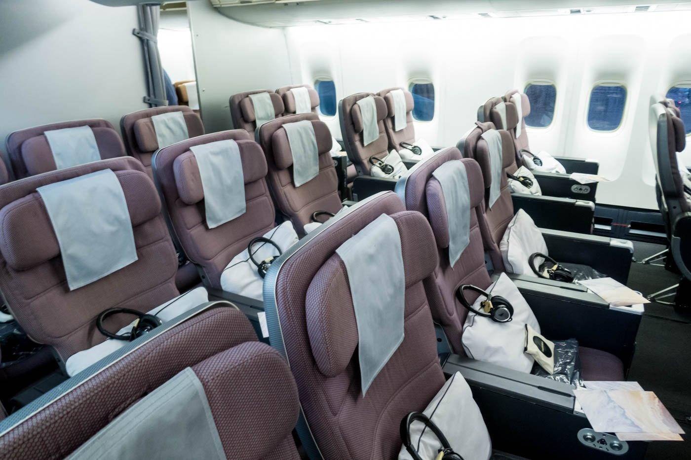 Qantas Boeing 747-400 Premium Economy Class