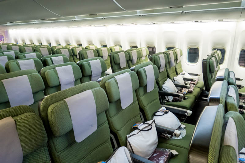 Qantas Economy Class Cabin