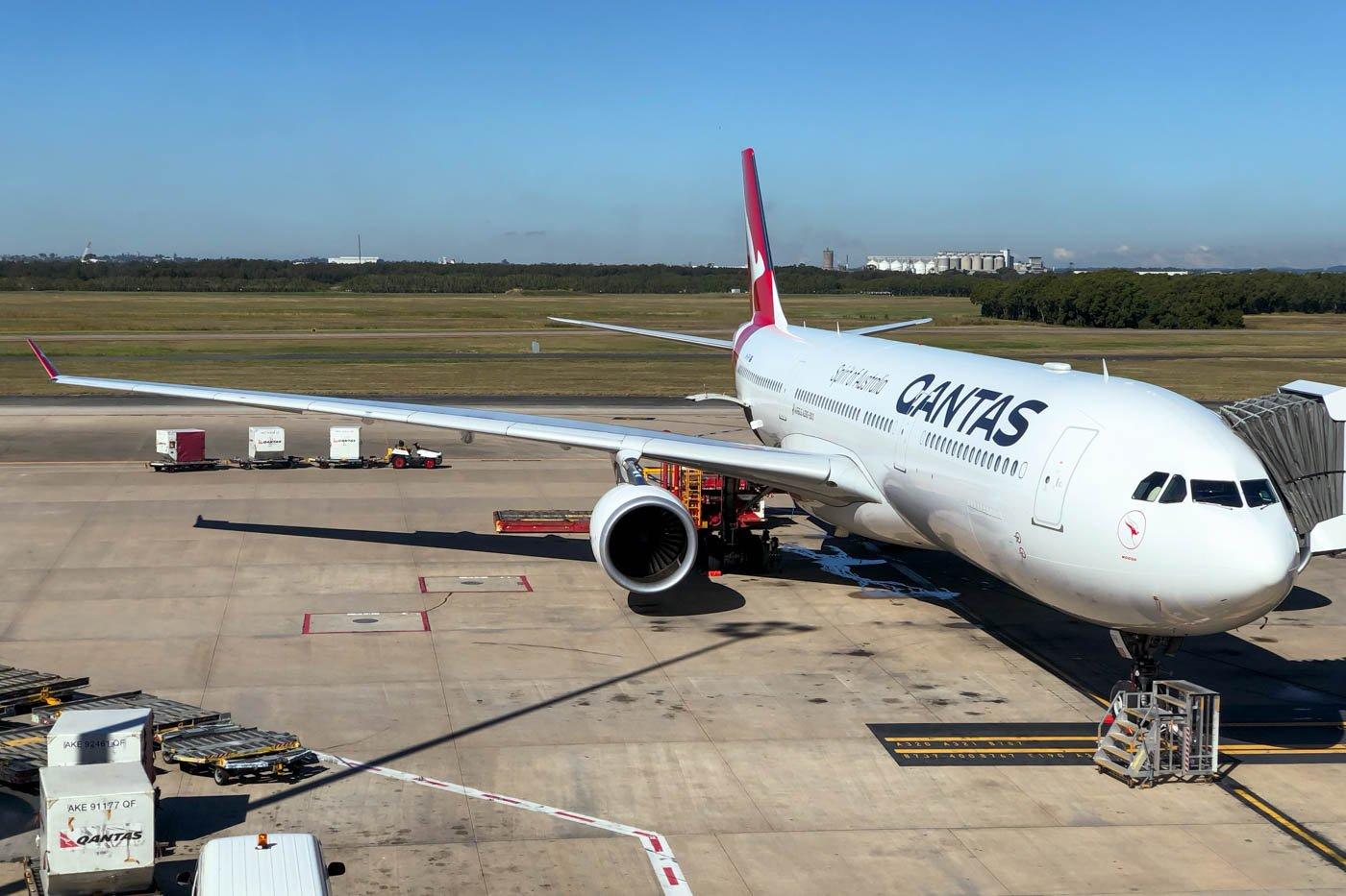 Qantas Airbus A330-300 at Brisbane Airport