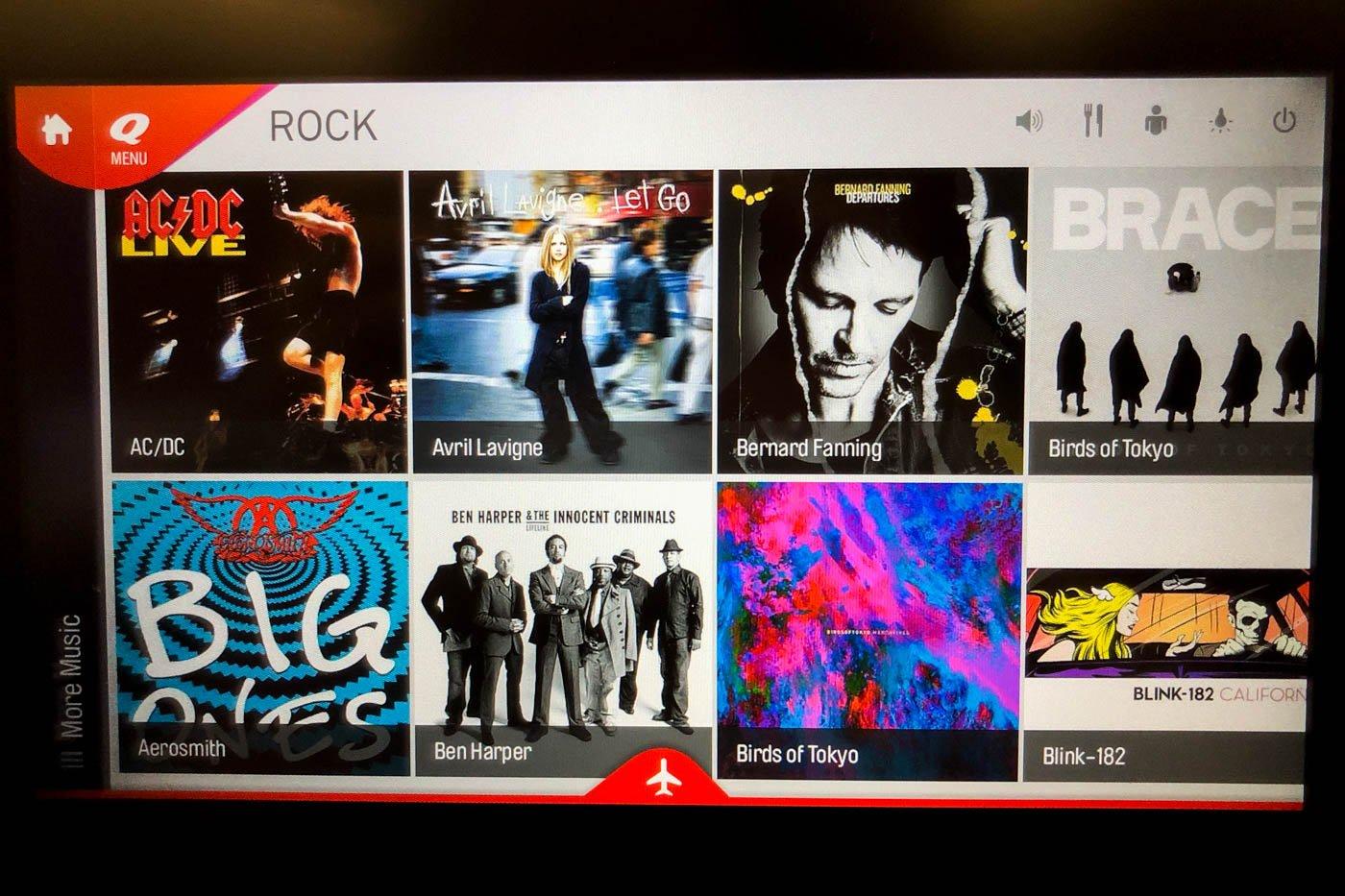 Music on Qantas A330