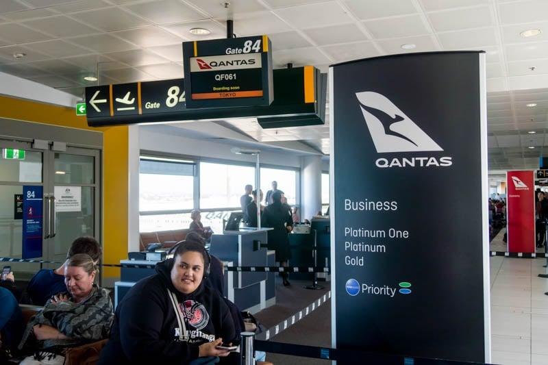Qantas Business Class Boarding