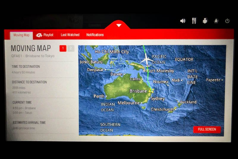 Qantas A330 In-Flight Map