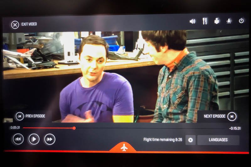 The Big Bang Theory Onboard Qantas