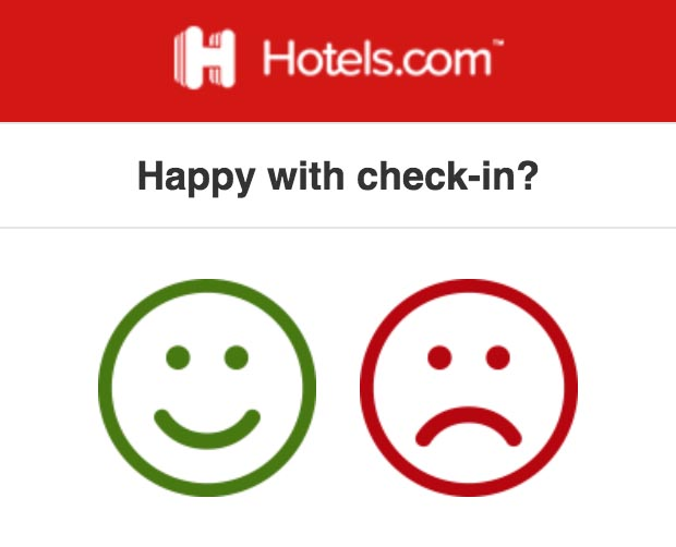 Happy with Check-in?