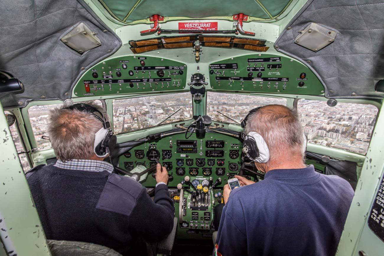 Malev Lisunov Li-2 Cockpit