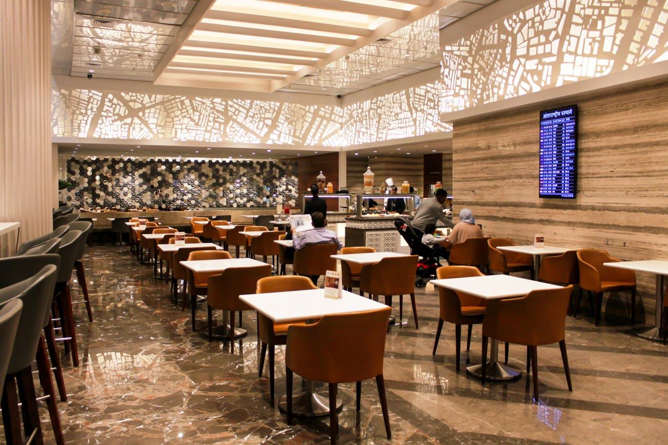 GVK Lounge Mumbai East Wing Dining Area
