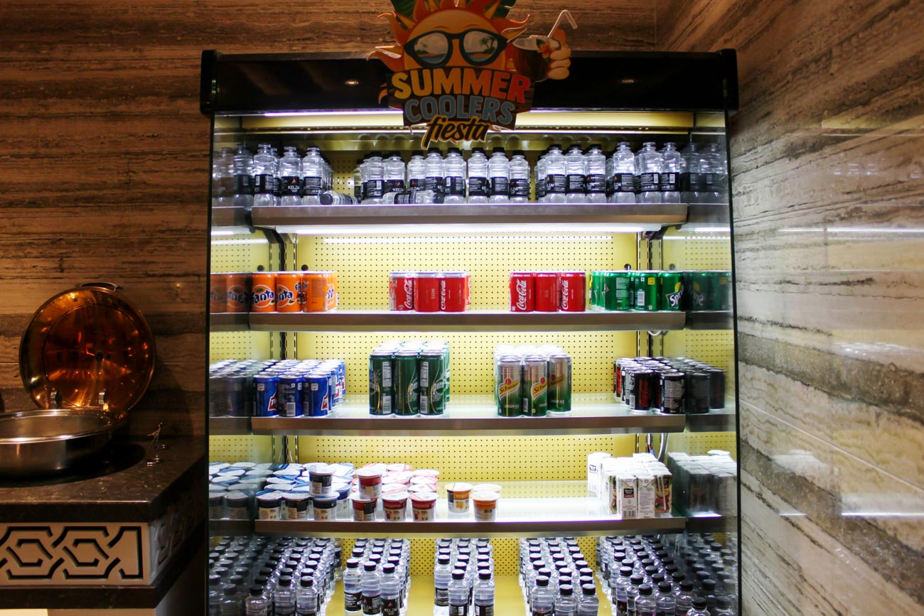 GVK Lounge Mumbai East Wing Soft Drinks