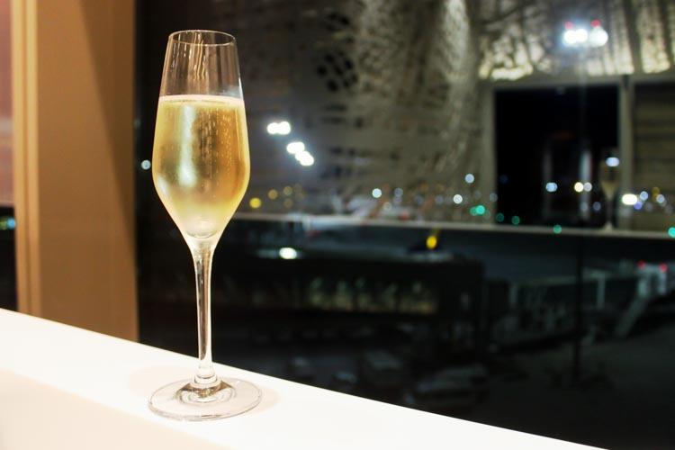 GVK Lounge Mumbai East Wing Sparkling Wine