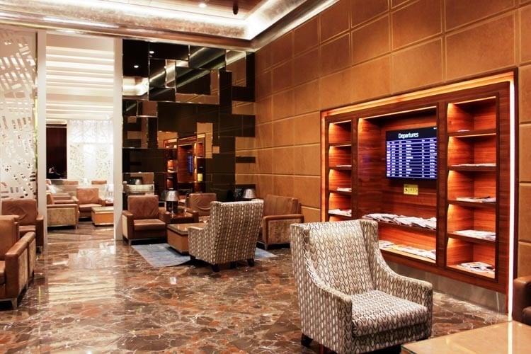 GVK Lounge Mumbai East Wing Seating